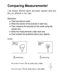 Comparing Measurements Activity