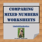 Comparing Mixed Numbers Worksheets for Practice