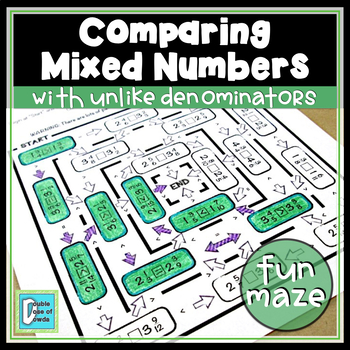 Comparing Mixed Numbers with Unlike Denominators Worksheet