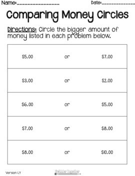 Comparing Money Circles