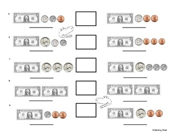 Comparing Money Practice Worksheet - Comparing Dollars and Coins