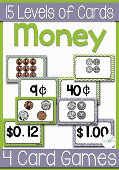 Comparing Money Values Card Games & Centers War, Memory, Slap-It! and more