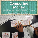 Comparing Money with Quarters, Dimes, Nickels and Pennies