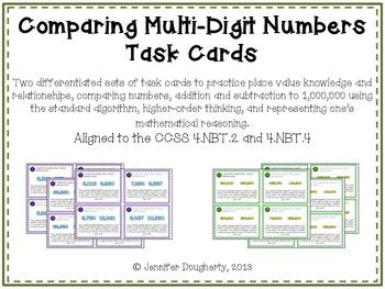 Comparing Multi-Digit Numbers - Common Core Aligned