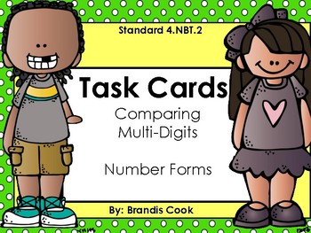 Comparing Multi-Digits & Number Forms (Task Cards)
