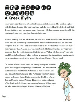 Comparing Myths/Legends: Greek Myth Medusa vs. No-Faced Doll- 4th-6th