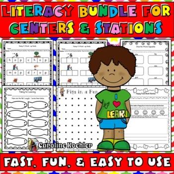 Literacy Bundle: Fun, Fast, & Easy Printables for Language