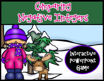 Comparing Negative Integers ~ Interactive PPT Game