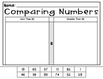 Comparing Number 0-100 SCOOT- No Symbols