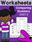 Comparing Number's Worksheets {1.NBT.3}