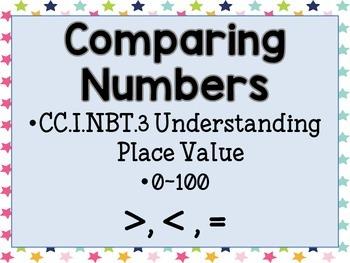 Comparing Numbers: 0 - 100 *FREEBIE*