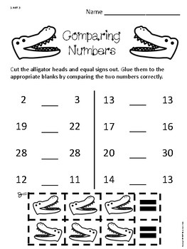 Comparing Numbers 0-30