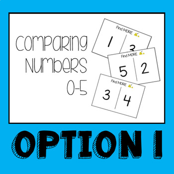Comparing Numbers 0-5 Level 1 Task Box