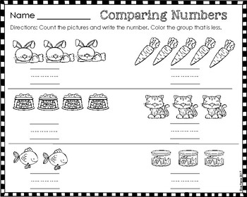 Comparing Numbers 0-5 Printables (Go Math Ch. 2)