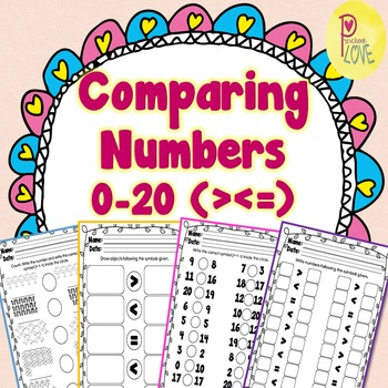 Comparing Numbers 0 to 20 (4 sets)