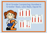 Comparing Numbers 1-10 Flash Cards: Greater Than, Less than, Equal to