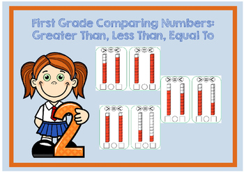 Comparing Numbers 1-10 Flash Cards: Greater Than, Less tha