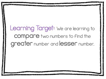 Comparing Numbers 1-10 Smartboard Lesson