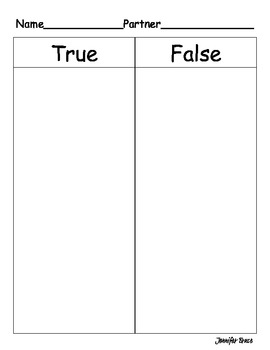 Comparing Numbers 1-100 True or False