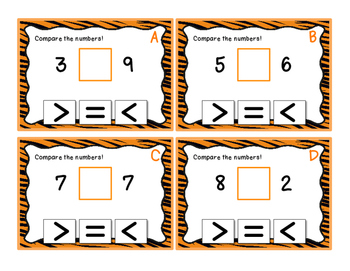 Comparing Numbers - 1 2 3 and 4 digits - Task Cards