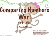 Comparing Numbers 1-50 War