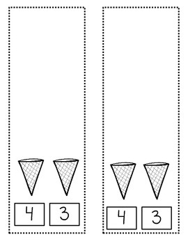 Ice Cream:  Comparing Numbers 1 to 5