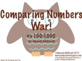 Comparing Numbers 100-1,000 War
