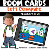 Comparing Numbers 11-20 Boom Cards