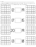 Comparing Numbers 11-20 with ten frames (Teen numbers)
