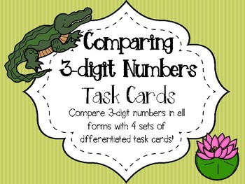 2.NBT.4 Comparing 3-Digit Numbers - 112 Differentiated Task Cards