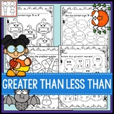 Greater Than Less Than Worksheets - Halloween