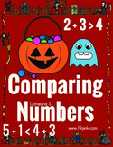 Comparing Numbers Worksheets - Halloween Math