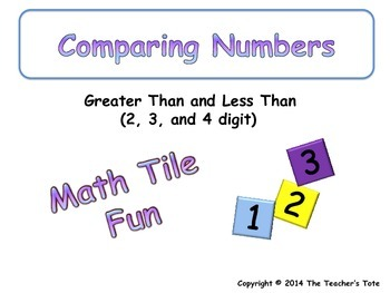 Comparing Numbers 2, 3 and 4 Digit