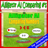 Greater than Less than Alligator   Comparing Numbers First Grade & Kindergarten
