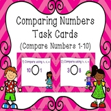 Comparing Number Kindergarten Task Cards Compare Numbers to 10 K.CC.7