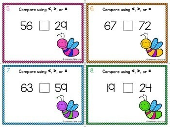 Comparing Numbers Activity (Task Cards)