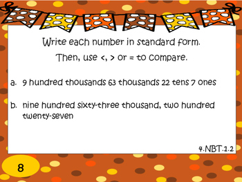 Comparing Numbers 4.NBT.1.2