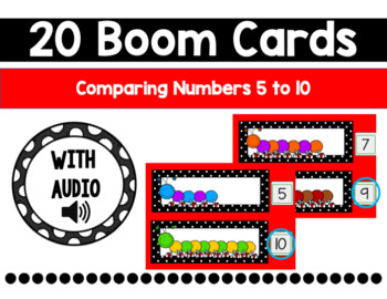 Comparing Numbers 5 to 10 Boom Cards {More}