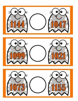 Comparing Numbers 999 to 1200 - Ghosts