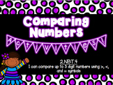 Comparing Numbers Activities! Common Core Aligned! 2nd Grade