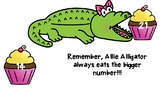 Comparing Numbers Allie Alligator Poster