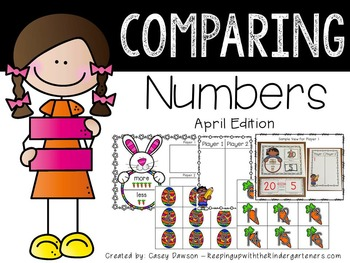 Comparing Numbers April Edition (Common Core and Texas TEKS Aligned)