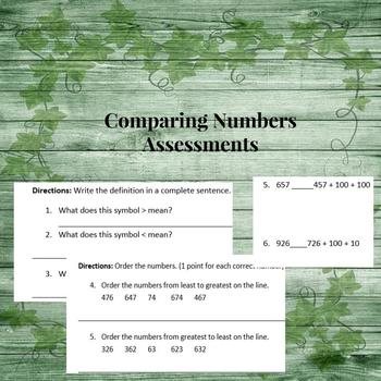 Comparing Numbers Assessment