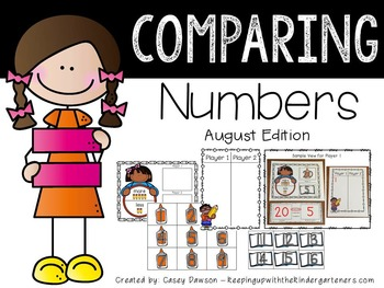 Comparing Numbers August Edition (Common Core and Texas TE
