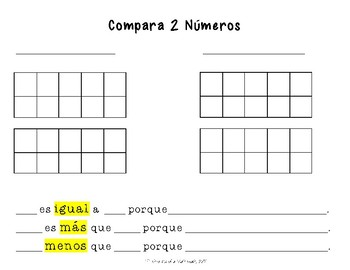 Comparing Numbers- BILINGUAL BUNDLE