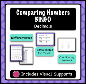 Comparing Numbers BINGO Game - Decimals
