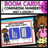 Comparing Numbers BOOM CARDS   DIGITAL TASK CARDS   Module 4 Lesson 7