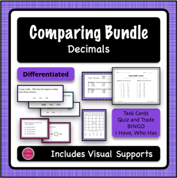 Comparing Numbers 4 game BUNDLE - Decimals