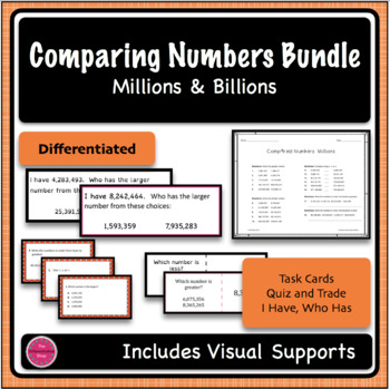 Comparing Numbers 3 game BUNDLE - Millions Period