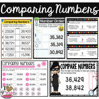 Comparing Numbers BUNDLE for Google Classroom